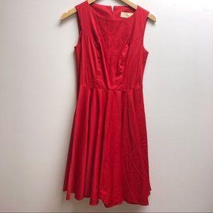 Grace Karin small red sleeveless flare dress